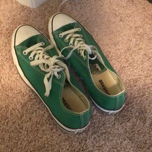 Green Converse Lo Top Shoes